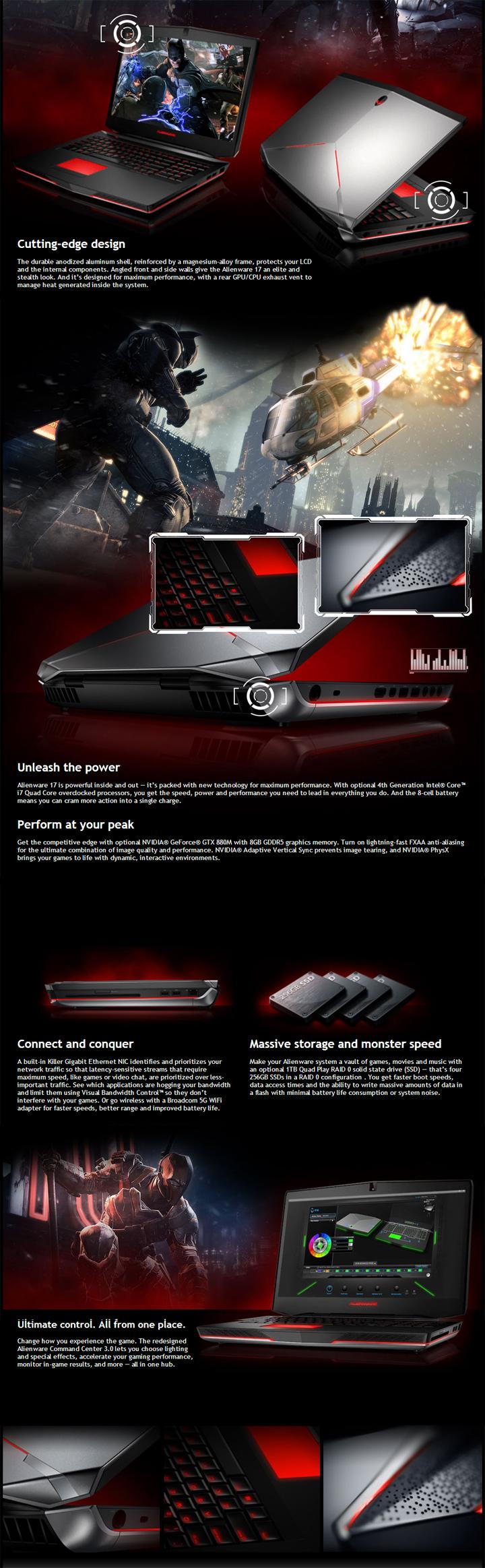 Alienware 17-860M for Intel® Mobile Core i7-4700MQ Haswell Processor