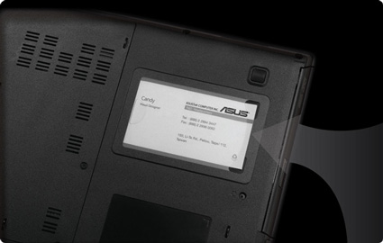 Asus B53J Business card holder integrated