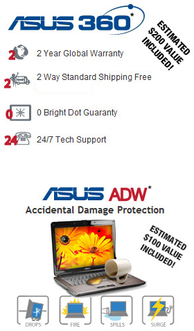 Latest Asus Warranty Combination